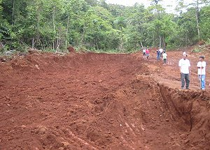 A mining site for Bauxite in Paranas, Samar